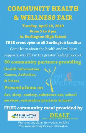 Community Health and Wellness Fair Poster